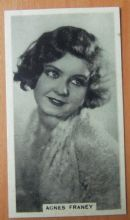 Agnes Franey, Cigarette Card, Godfrey Phillips, Cinema Stars, 1930 card #15